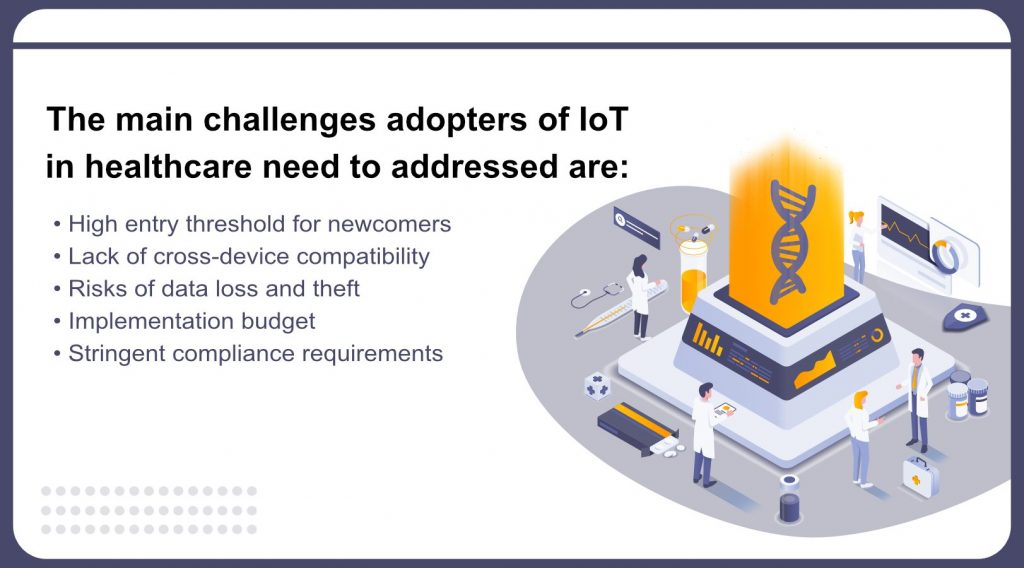 Summary of challenges of IoT in healthcare